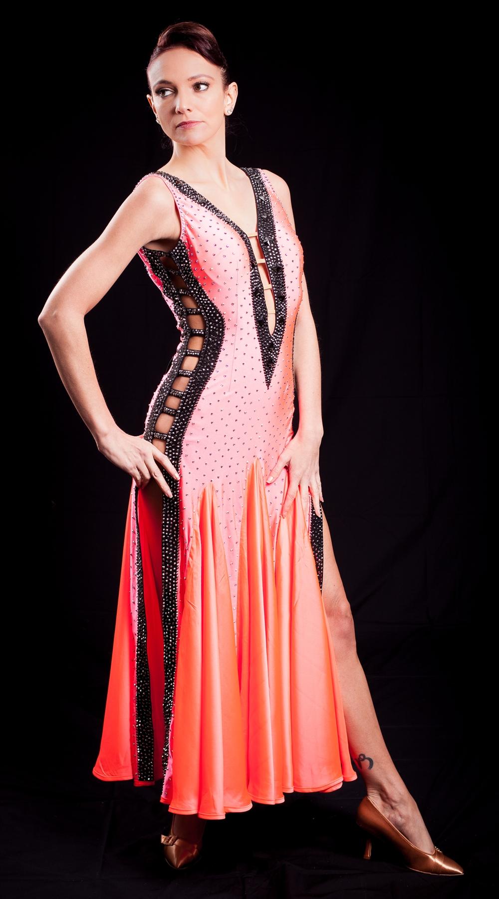 Elegant Amp Sexy Coral Ballroom Dress