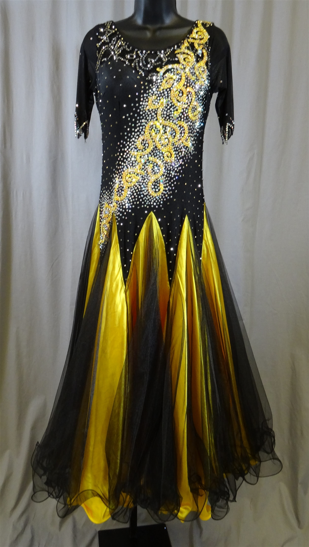 Elegant Black Amp Gold Ballroom Dress