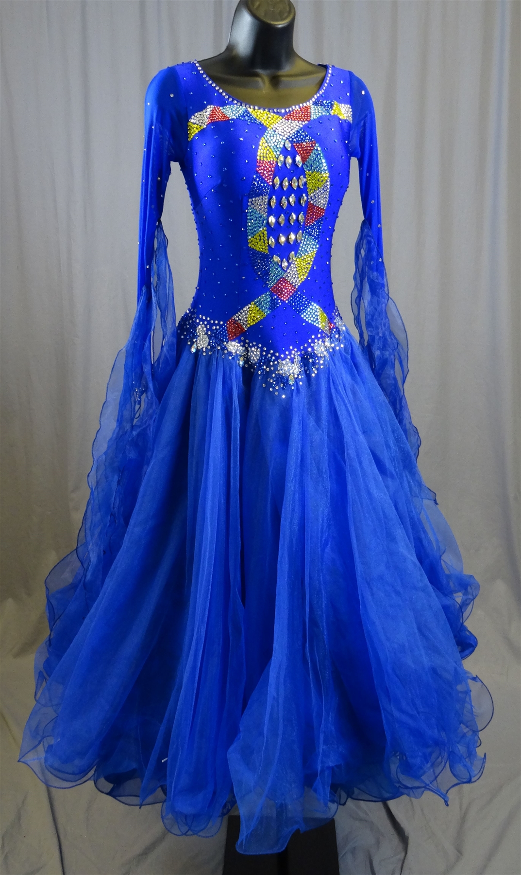 Elegant Royal Blue Ballroom Dress